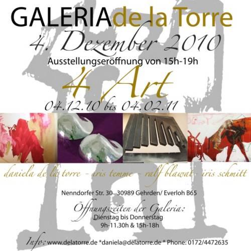 Ausstellungseröffnung in Gehrden: 4 Art