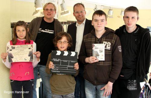 Video-AG der Pestalozzi-Schule aus Burgwedel siegte bei der Hannover Filmklappe 2012