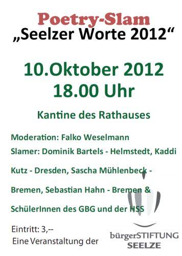 Poetry Slam: Seelzer Worte 2012