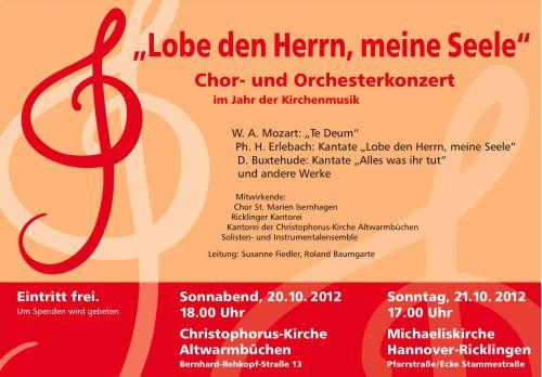 Zwei Chorkonzerte zum Jahr der Kirchenmusik: Lobe den Herrn