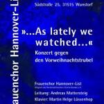 Chorkonzert gegen den Vorweihnachtstrubel in Wunstorf