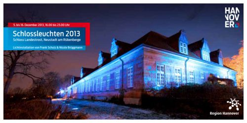 Schlossleuchten 2013: Blaue Orte